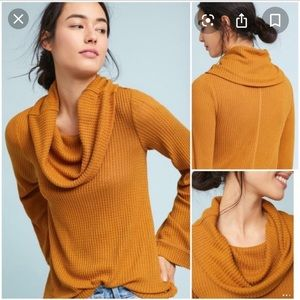 Anthropologie Cowl Thermal Tunic